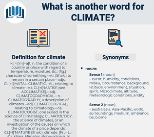 climate, synonym climate, another word for climate, words like climate, thesaurus climate