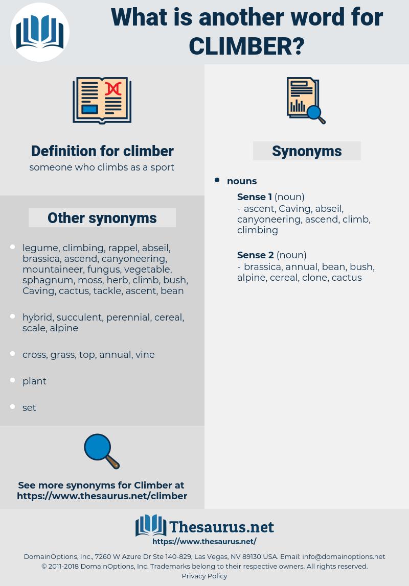 climber, synonym climber, another word for climber, words like climber, thesaurus climber