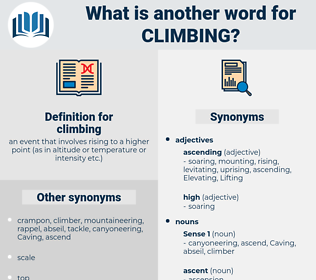 climbing, synonym climbing, another word for climbing, words like climbing, thesaurus climbing