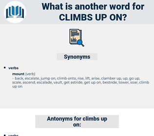 climbs up on, synonym climbs up on, another word for climbs up on, words like climbs up on, thesaurus climbs up on