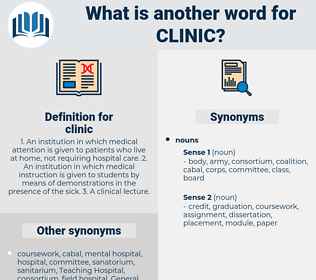 clinic, synonym clinic, another word for clinic, words like clinic, thesaurus clinic