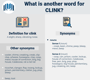clink, synonym clink, another word for clink, words like clink, thesaurus clink
