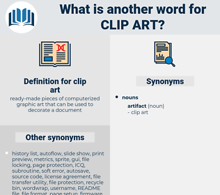 clip art, synonym clip art, another word for clip art, words like clip art, thesaurus clip art