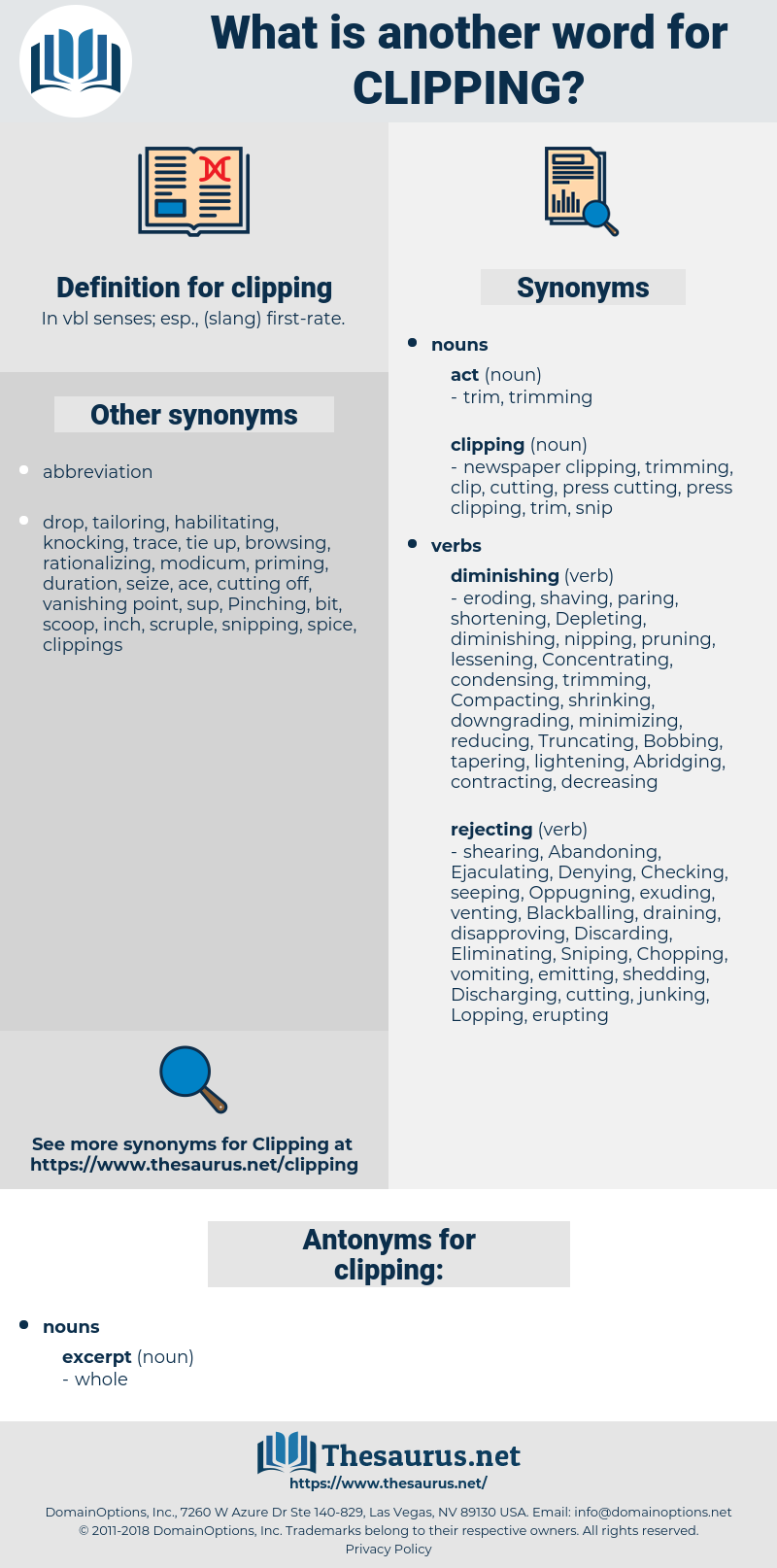 clipping, synonym clipping, another word for clipping, words like clipping, thesaurus clipping