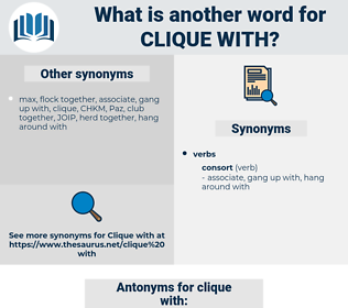 clique with, synonym clique with, another word for clique with, words like clique with, thesaurus clique with