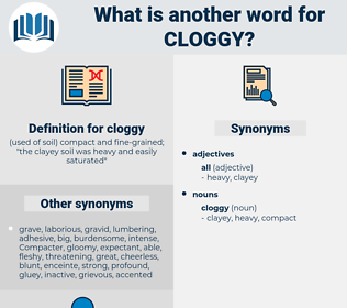 cloggy, synonym cloggy, another word for cloggy, words like cloggy, thesaurus cloggy