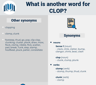 clop, synonym clop, another word for clop, words like clop, thesaurus clop