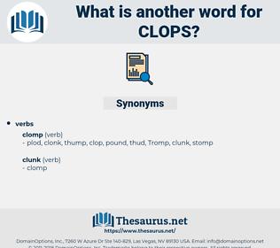 clops, synonym clops, another word for clops, words like clops, thesaurus clops