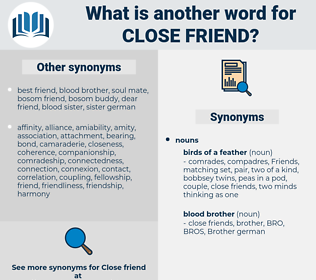 close friend, synonym close friend, another word for close friend, words like close friend, thesaurus close friend