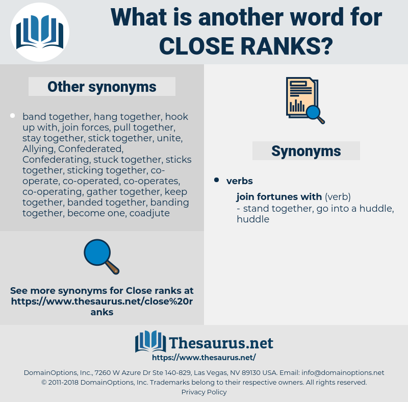 close ranks, synonym close ranks, another word for close ranks, words like close ranks, thesaurus close ranks