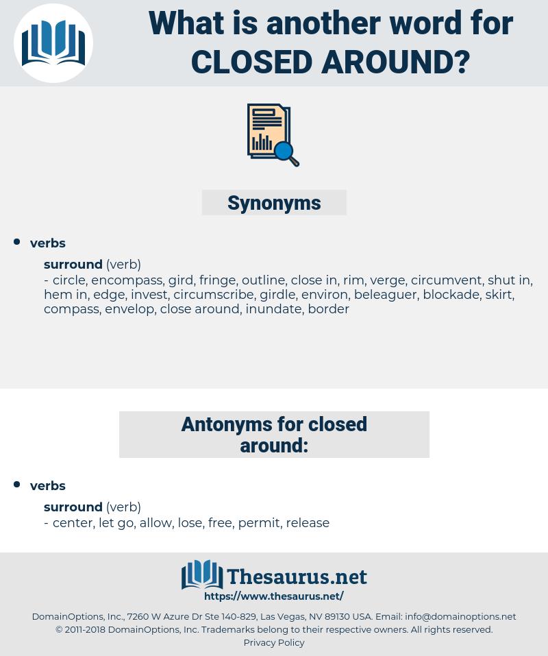 closed around, synonym closed around, another word for closed around, words like closed around, thesaurus closed around