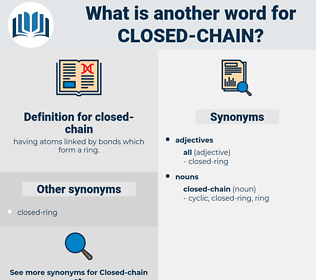 closed-chain, synonym closed-chain, another word for closed-chain, words like closed-chain, thesaurus closed-chain