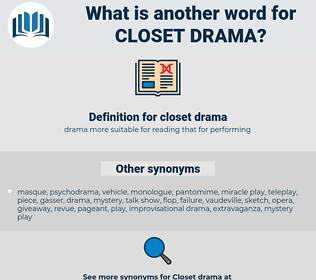 closet drama, synonym closet drama, another word for closet drama, words like closet drama, thesaurus closet drama