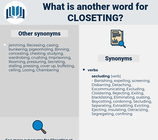 Closeting, synonym Closeting, another word for Closeting, words like Closeting, thesaurus Closeting
