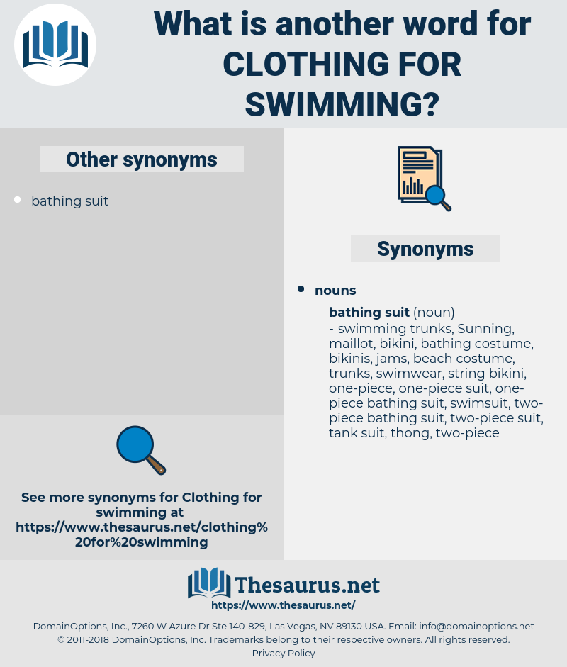 clothing for swimming, synonym clothing for swimming, another word for clothing for swimming, words like clothing for swimming, thesaurus clothing for swimming