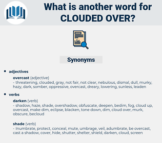 clouded over, synonym clouded over, another word for clouded over, words like clouded over, thesaurus clouded over