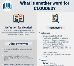 clouded, synonym clouded, another word for clouded, words like clouded, thesaurus clouded