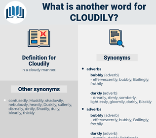 Cloudily, synonym Cloudily, another word for Cloudily, words like Cloudily, thesaurus Cloudily