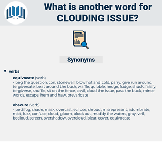 clouding issue, synonym clouding issue, another word for clouding issue, words like clouding issue, thesaurus clouding issue