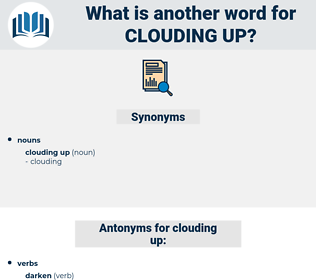 clouding up, synonym clouding up, another word for clouding up, words like clouding up, thesaurus clouding up