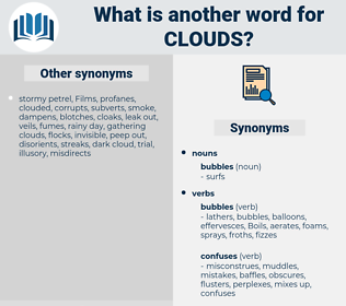 clouds, synonym clouds, another word for clouds, words like clouds, thesaurus clouds