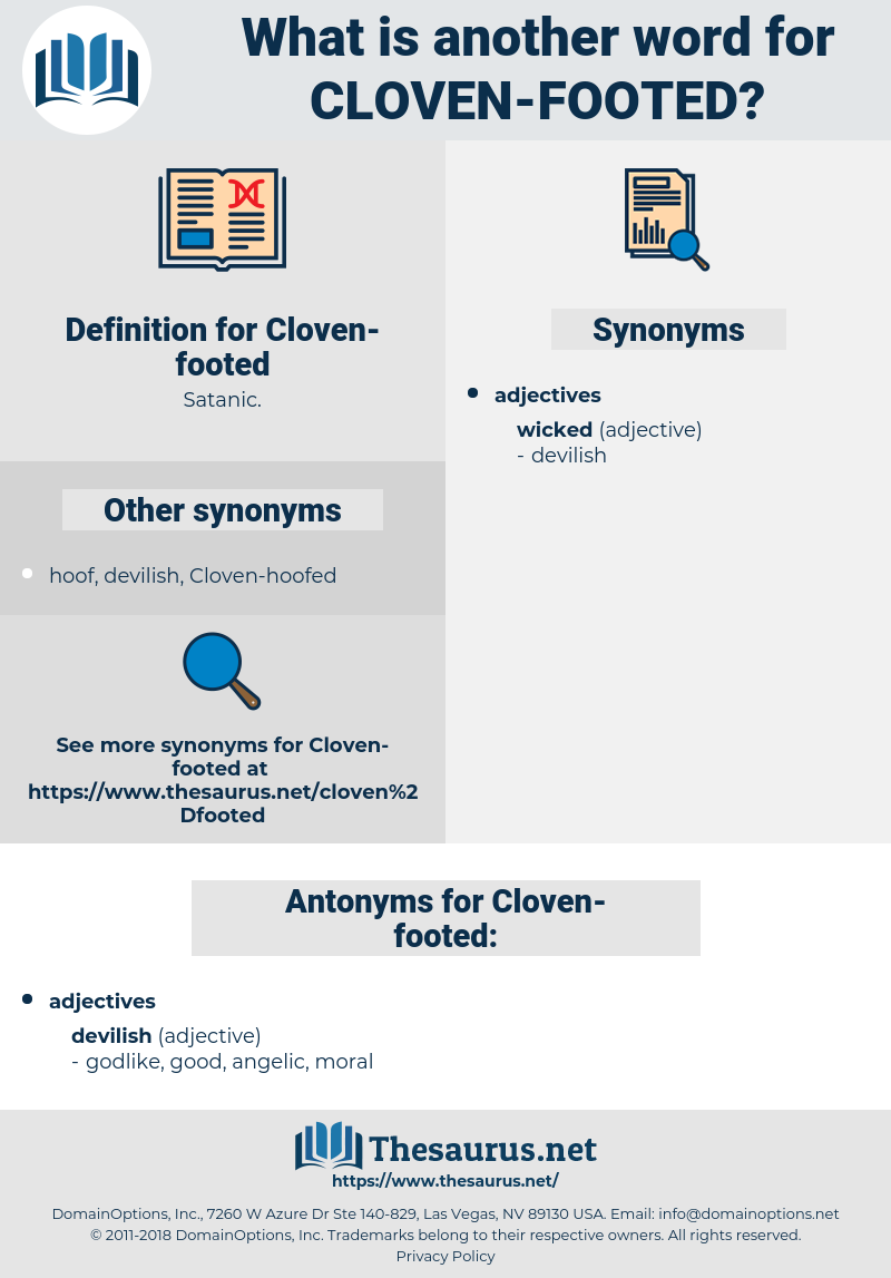 Cloven-footed, synonym Cloven-footed, another word for Cloven-footed, words like Cloven-footed, thesaurus Cloven-footed