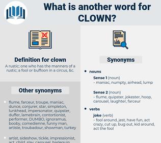 clown, synonym clown, another word for clown, words like clown, thesaurus clown