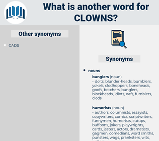clowns, synonym clowns, another word for clowns, words like clowns, thesaurus clowns