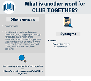 club together, synonym club together, another word for club together, words like club together, thesaurus club together