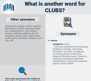 clubs, synonym clubs, another word for clubs, words like clubs, thesaurus clubs
