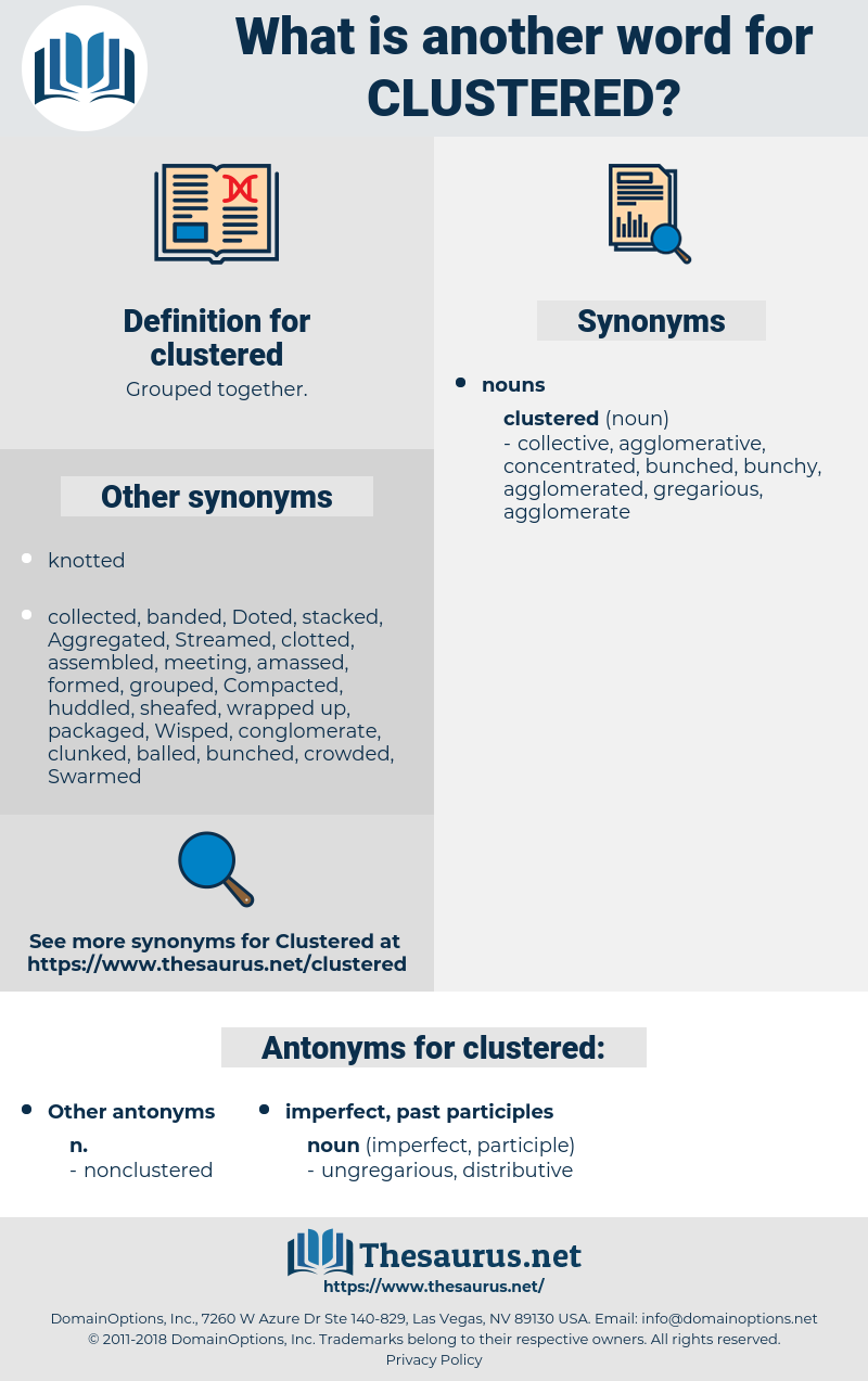 clustered, synonym clustered, another word for clustered, words like clustered, thesaurus clustered