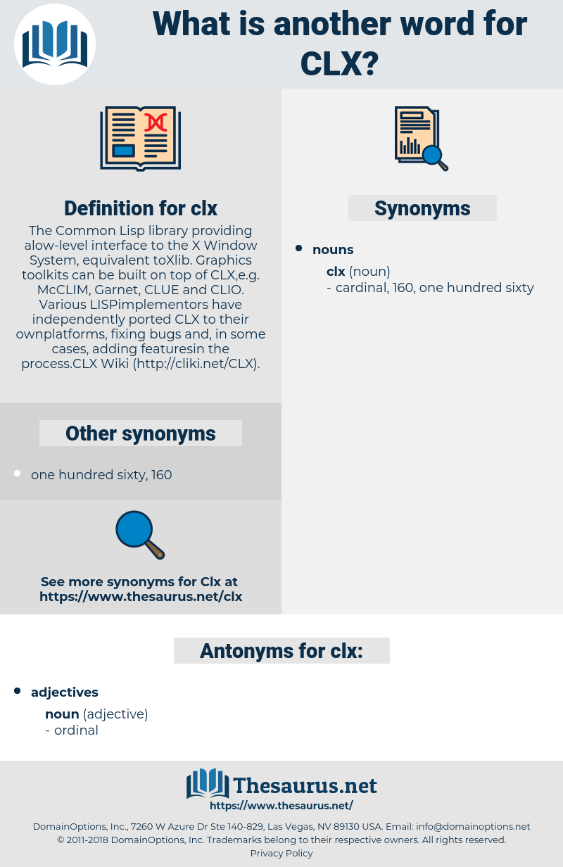 clx, synonym clx, another word for clx, words like clx, thesaurus clx