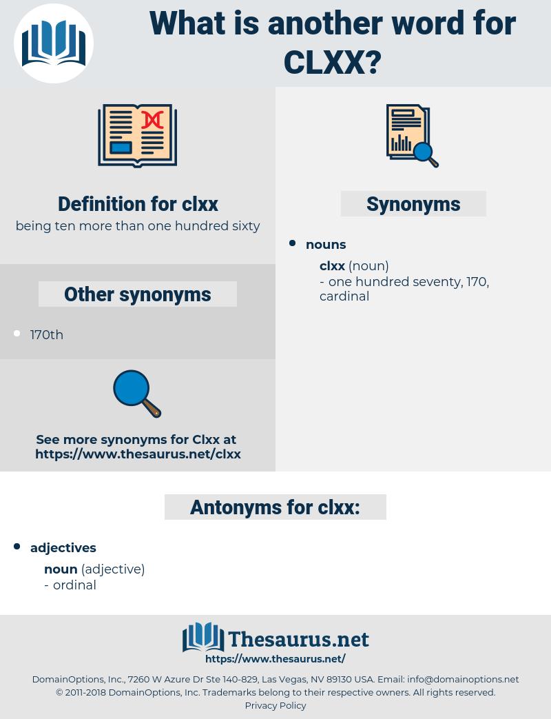 clxx, synonym clxx, another word for clxx, words like clxx, thesaurus clxx