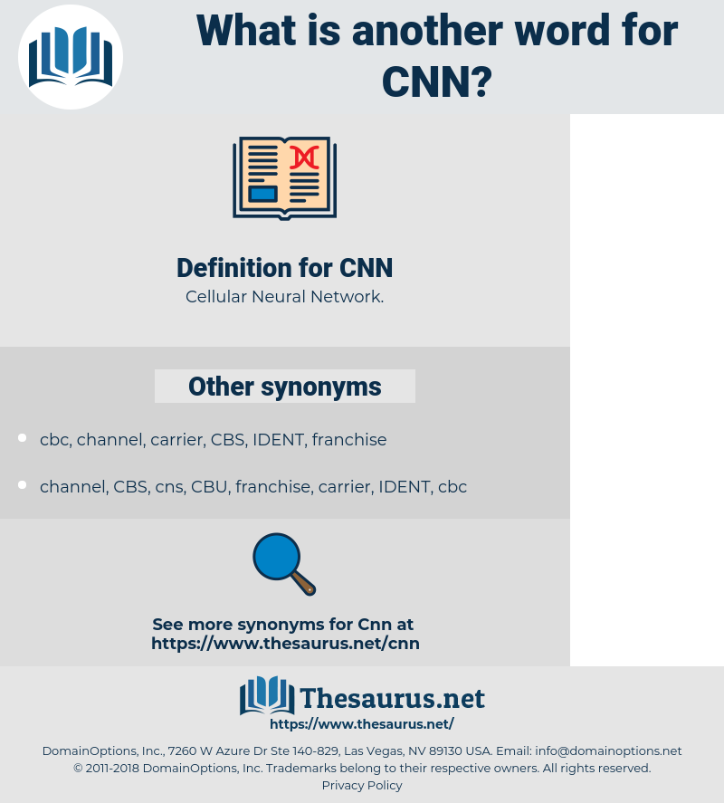 CNN, synonym CNN, another word for CNN, words like CNN, thesaurus CNN