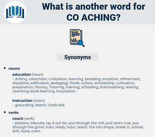 co-aching, synonym co-aching, another word for co-aching, words like co-aching, thesaurus co-aching