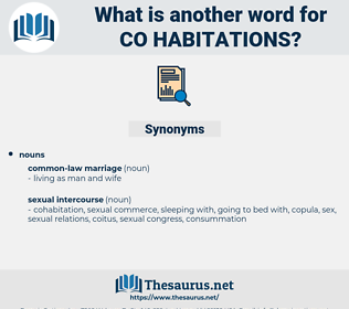 co habitations, synonym co habitations, another word for co habitations, words like co habitations, thesaurus co habitations