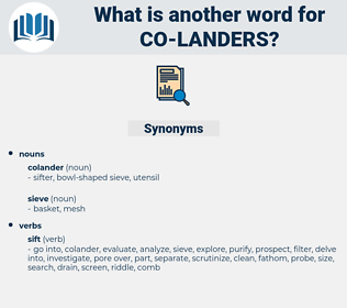 co landers, synonym co landers, another word for co landers, words like co landers, thesaurus co landers