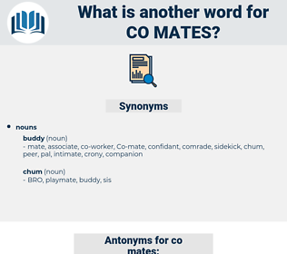 co-mates, synonym co-mates, another word for co-mates, words like co-mates, thesaurus co-mates
