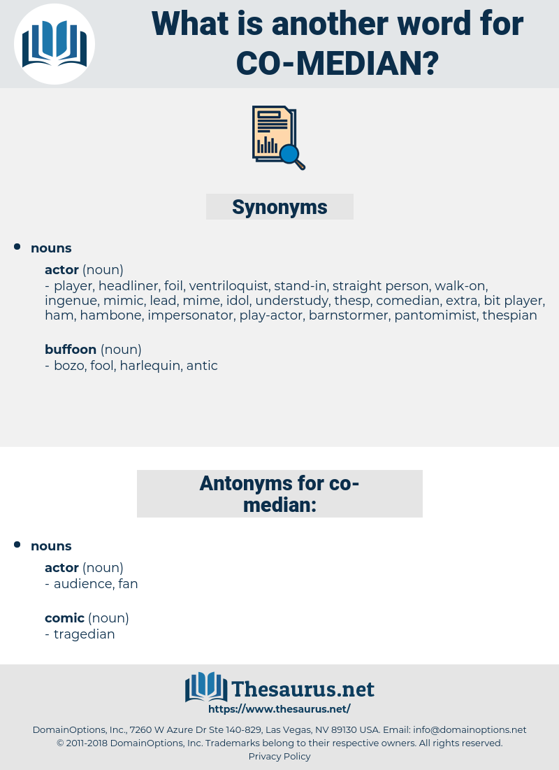 co-median, synonym co-median, another word for co-median, words like co-median, thesaurus co-median
