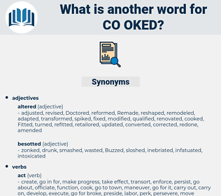 co-oked, synonym co-oked, another word for co-oked, words like co-oked, thesaurus co-oked