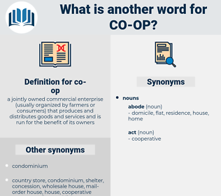 co-op, synonym co-op, another word for co-op, words like co-op, thesaurus co-op