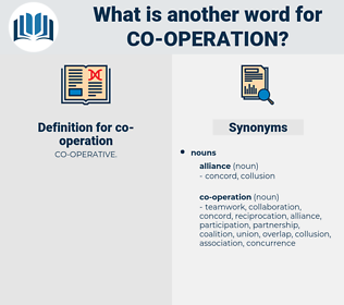 co-operation, synonym co-operation, another word for co-operation, words like co-operation, thesaurus co-operation