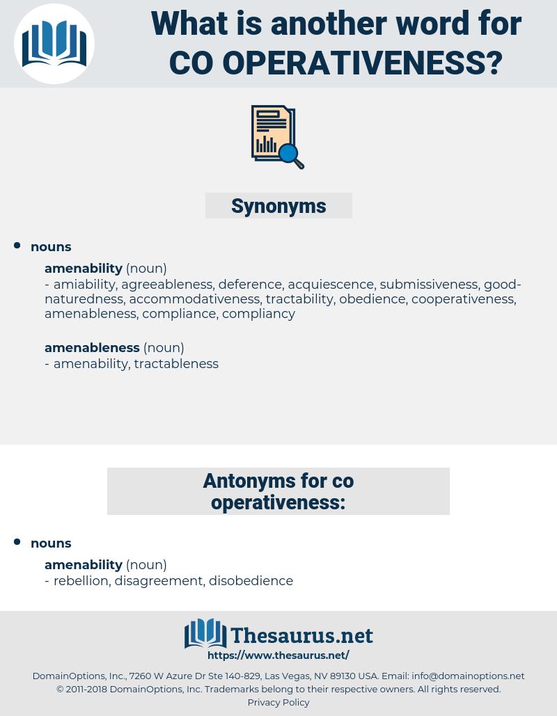 co operativeness, synonym co operativeness, another word for co operativeness, words like co operativeness, thesaurus co operativeness