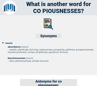 co piousnesses, synonym co piousnesses, another word for co piousnesses, words like co piousnesses, thesaurus co piousnesses