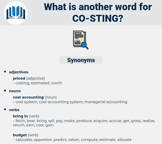 co sting, synonym co sting, another word for co sting, words like co sting, thesaurus co sting