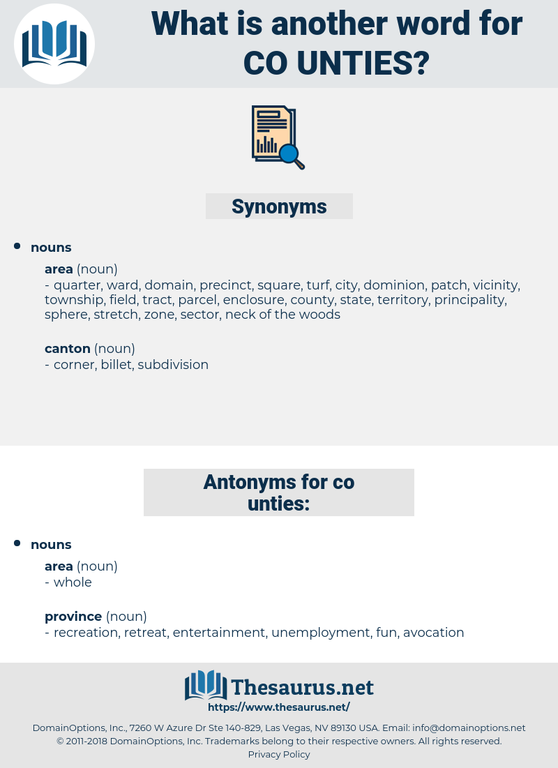 co unties, synonym co unties, another word for co unties, words like co unties, thesaurus co unties