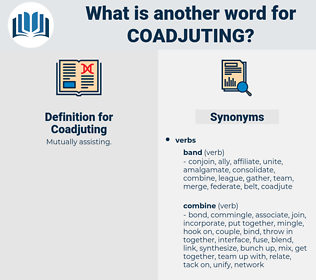 Coadjuting, synonym Coadjuting, another word for Coadjuting, words like Coadjuting, thesaurus Coadjuting