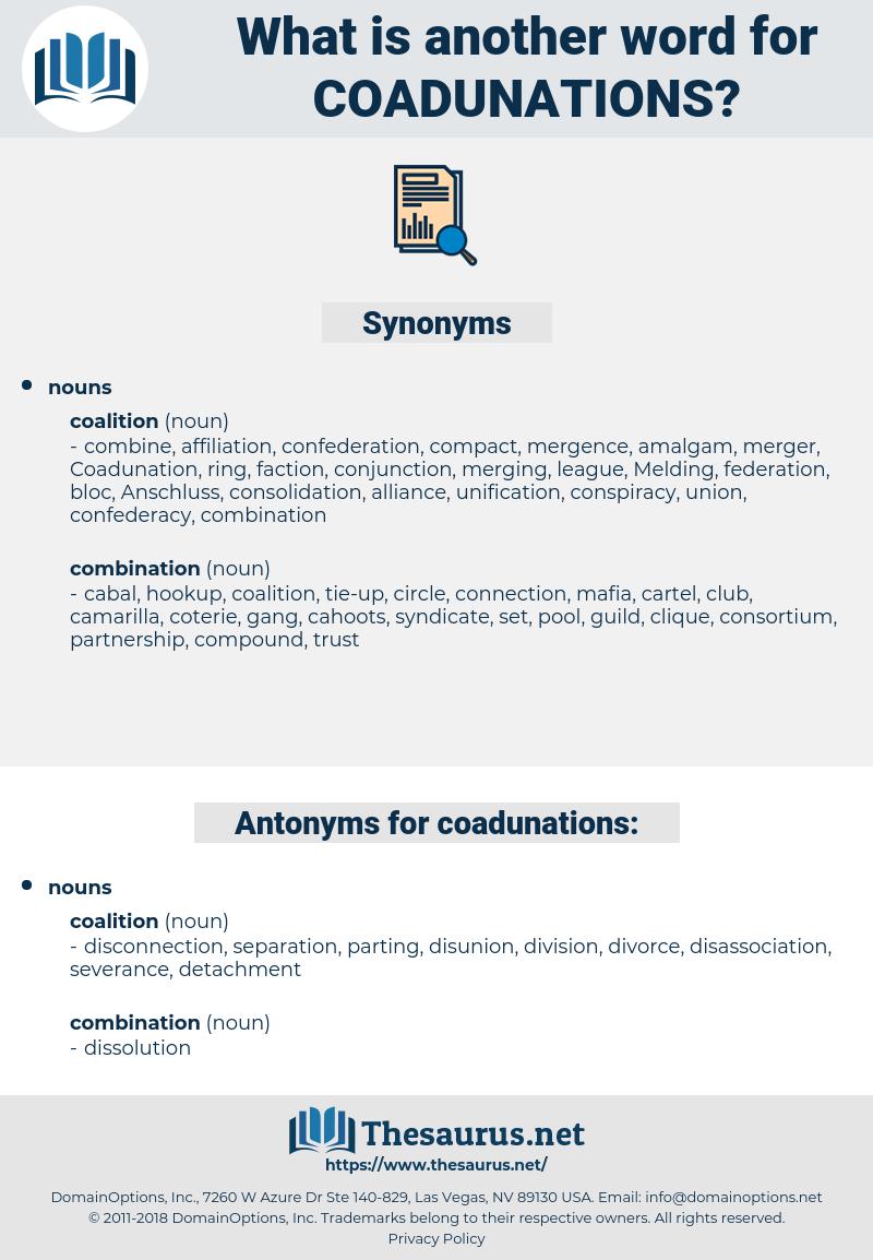 coadunations, synonym coadunations, another word for coadunations, words like coadunations, thesaurus coadunations