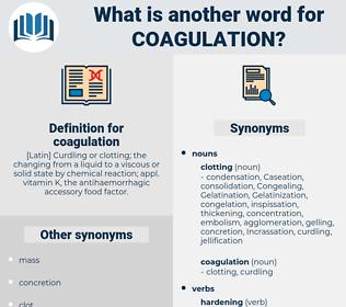 coagulation, synonym coagulation, another word for coagulation, words like coagulation, thesaurus coagulation