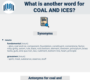 coal and ices, synonym coal and ices, another word for coal and ices, words like coal and ices, thesaurus coal and ices